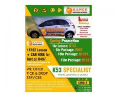 Affordable driving lessons in Cape Town