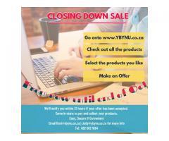 All goods must Go make an offer Closing Down Sale