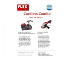 Flex Cordless Drill and Angle Grinder Combo
