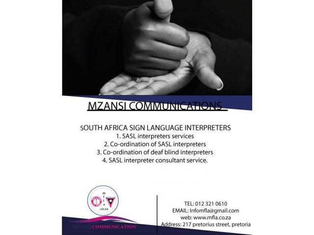 South African sign language interpreters - 1/2