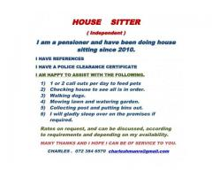 House sitting and pet care
