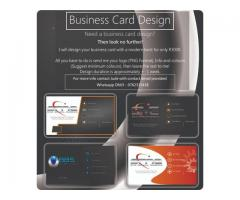 Business Card Design & Website Visual design layout