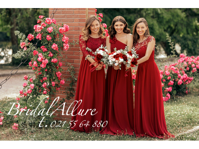 Bridesmaids/Evening wear/Mother of Bride/Matric -Burgundy Colour - 2/3