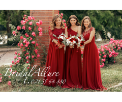 Bridesmaids/Evening wear/Mother of Bride/Matric -Burgundy Colour