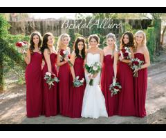 Bridesmaids/Evening wear/Mother of Bride/Matric -Burgundy Colour
