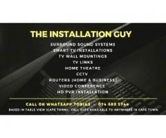 Installations: Home theatre, Smart TVs, CCTV, Routers, Video Conference, Surround Sound, Networks