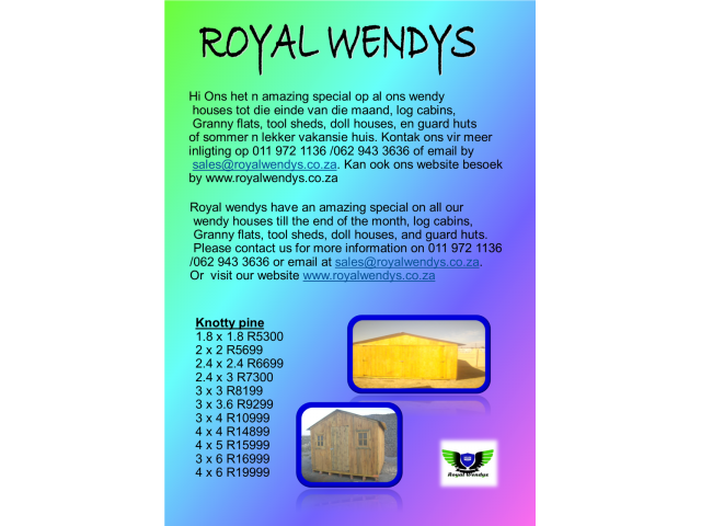 Best Quality Wendy Houses For Best Price!!! - 1/4