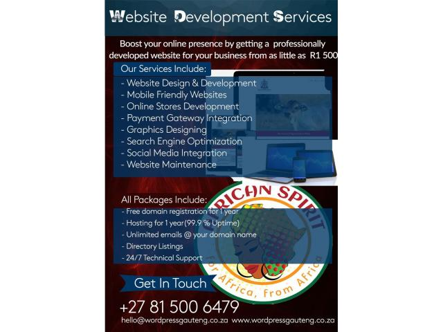 Freelance website development and maintenance - 1/4