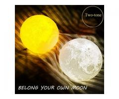 Sign In 3D Magical Two Tone Moon Lamp USB Charging Luna LED Night Light Touch Sensor Gift