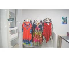 Variety of clothing and beauty products available