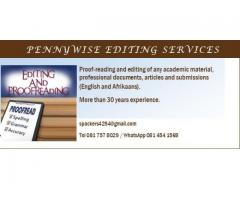 PennyWise Proof-reading and Editing Services