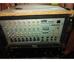 Leem 300w mixer Amp P.A System with two 15 inch 2 way Hybrid speakers. Second hand in good condition
