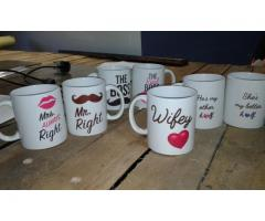 Mugs, Branding, T-shirts, Advertising, promotional items, Signage, Decals