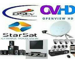Dstv, Starsat, Ovhd and Cctv installation relocation and supplies