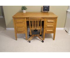 Solid Oak Desk