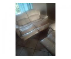 Genuine leather upper lounge suite