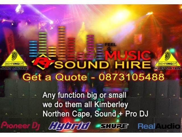 RT Sound Hire, DJ Hire, Lighting Hire - 1/1