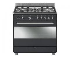 Smeg 90cm Anthracite Concert Full Gas Cooker Oven - SSA91GGA9