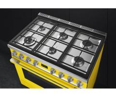 Smeg 90CM Portofino 6 Burner Gas / Electric Stove - CPF9GMYW