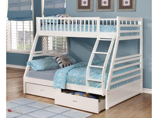 Twin full Bunk Bed with Storage - 1/2