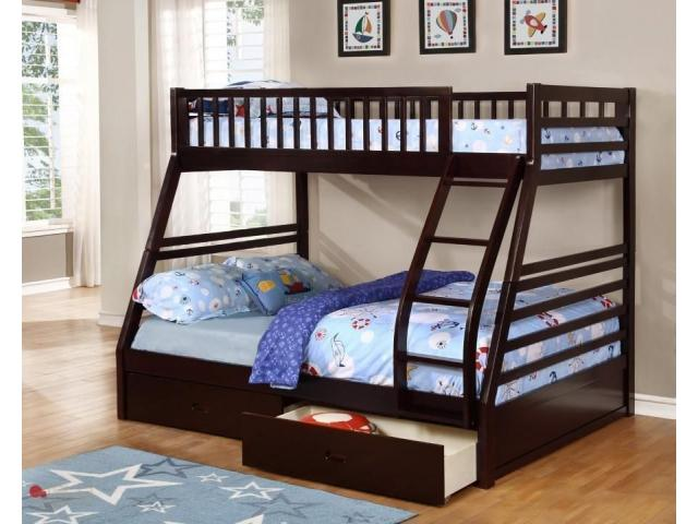 Twin full Bunk Bed with Storage - 2/2