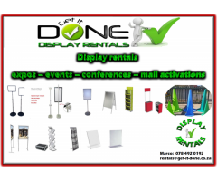 event, expo, conference display equipment hire