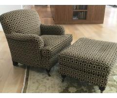 Custom Chair and Ottoman - Immaculate Condition