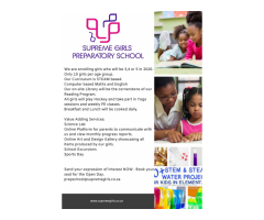 GIRLS ONLY PRESCHOOL