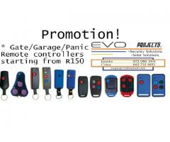 Gate/Garage/Panic Remote Buttons from R150
