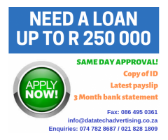 Are you Blacklisted? Get your loan TODAY!!!