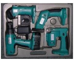18 Volts 4 Pcs Cordless Power Tool Set