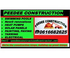 Peedee pool and construction