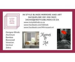 In Style Blinds Art and Mirrors