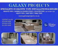 Granite Tops Installation