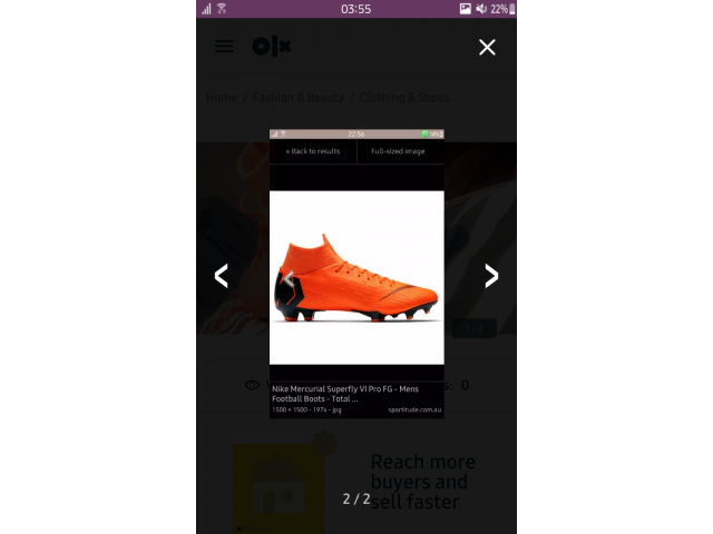 Nike Mercurial superfly Pro VI GF RUGBY toks/boots - 2/3