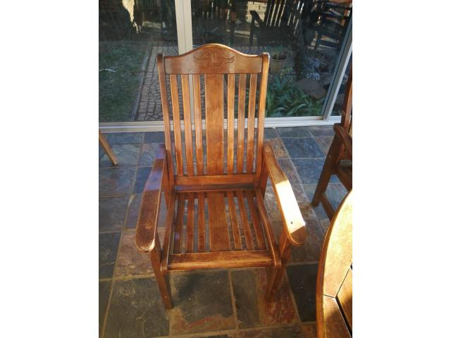 Wooden Patio Set - 4/4