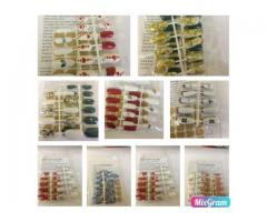 HAND CRAFTED ARTIFICIAL NAILS    24 Nails and 40 DOUBLE-SIDED TAPE    Per Packet - R60.00
