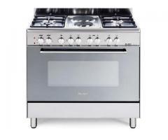 Buy ELBA 900mm 4 Gas Burner/2 Plate Stove Stainless Steel 01/9CX727
