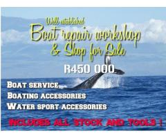 Boat workshop and accessories shop for sale
