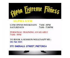 Alpha xf gym  laudium Pretoria