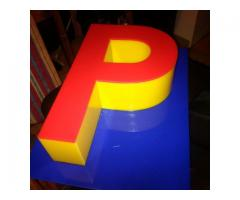 3D Perspex Letters.