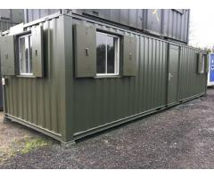 32x10ft Anti-Vandal Site Office / Site Cabin / Canteen / Partitioned / Firerated