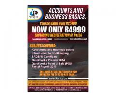Accounts and Business Basics - 80% Subsidized Bursary Available Now!