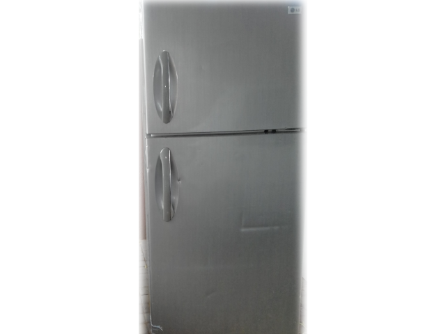 LG Metallic Fridge Freezer - 1/2