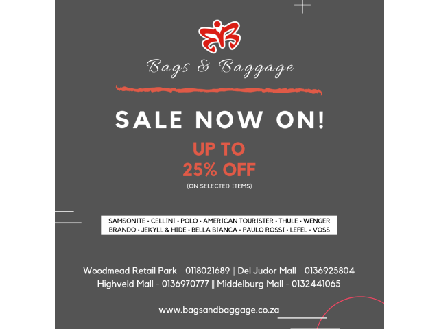 Bags and Baggage - Sale now on! | Class Ads