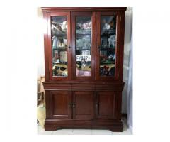 Cabinet - Glass / Solid Wood
