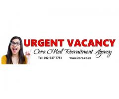 Hatfield, Pretoria: RECEPTIONIST FOR LAW FIRM