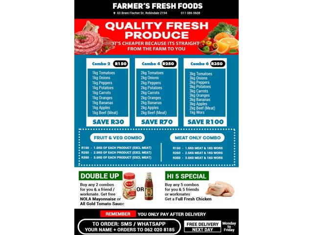 Meat, vegetables and combos - 1/2