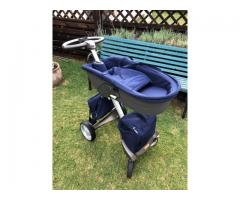 Stokke Xplory Pram with 3 seats, cup holder and two bags