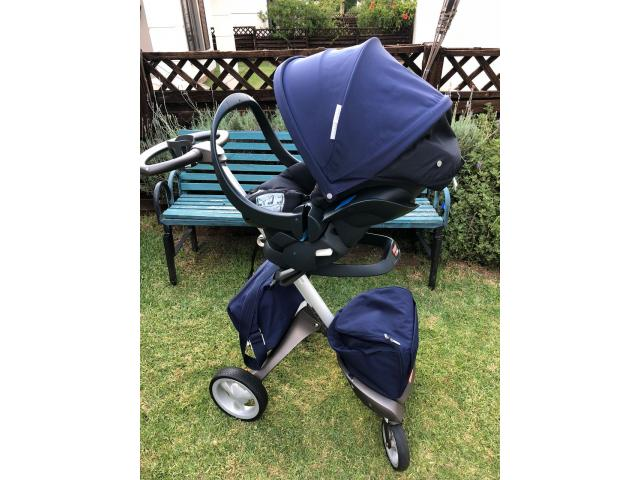 Stokke Xplory Pram with 3 seats, cup holder and two bags - 3/4